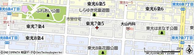 北海道旭川市東光7条周辺の地図