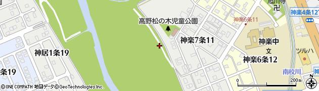 北海道旭川市神楽7条周辺の地図