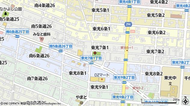 〒078-8347 北海道旭川市東光7条の地図