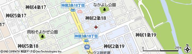 北海道旭川市神居2条周辺の地図