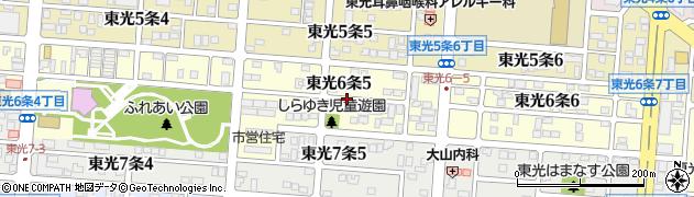 北海道旭川市東光6条周辺の地図