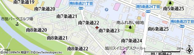 北海道旭川市南7条通周辺の地図