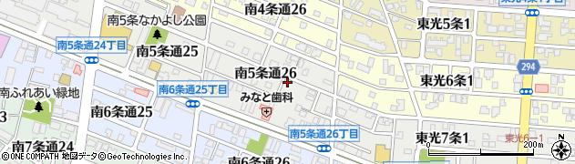 北海道旭川市南5条通周辺の地図