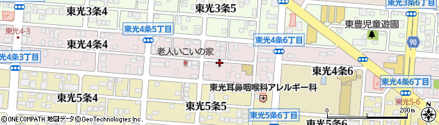 北海道旭川市東光4条周辺の地図