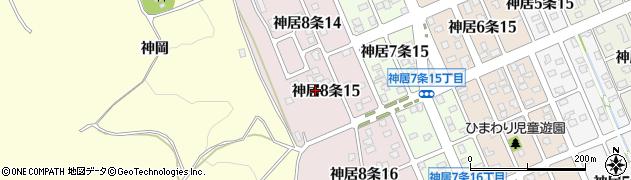 北海道旭川市神居8条周辺の地図