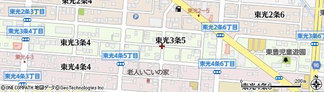 北海道旭川市東光3条周辺の地図