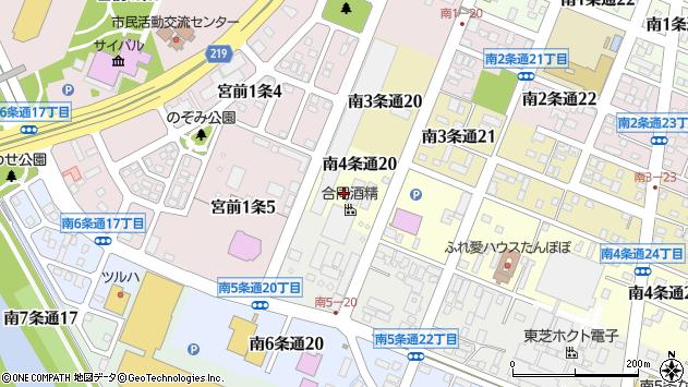〒078-8334 北海道旭川市南4条通の地図