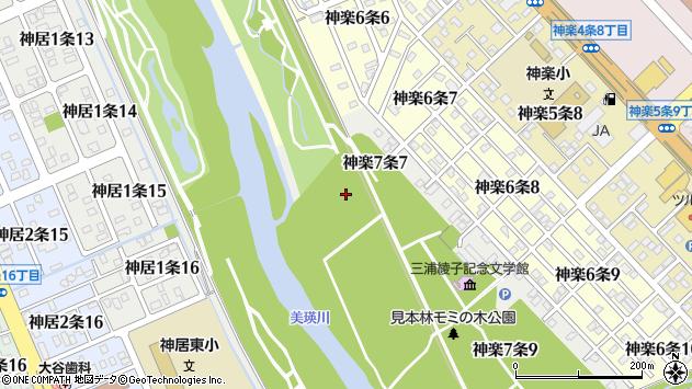 〒070-8007 北海道旭川市神楽7条の地図