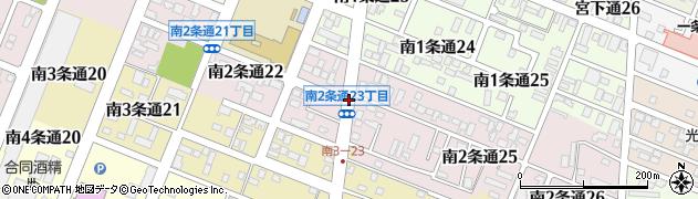北海道旭川市南2条通周辺の地図