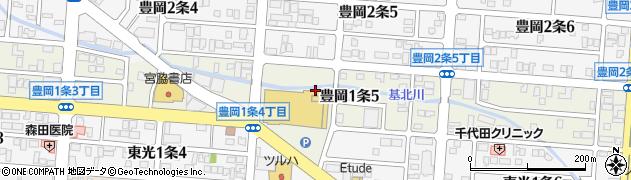 北海道旭川市豊岡1条周辺の地図