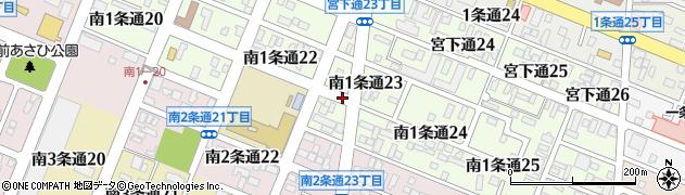 北海道旭川市南1条通周辺の地図