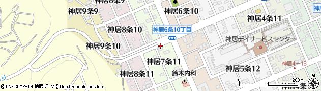 北海道旭川市神居7条周辺の地図
