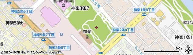 北海道旭川市神楽3条周辺の地図