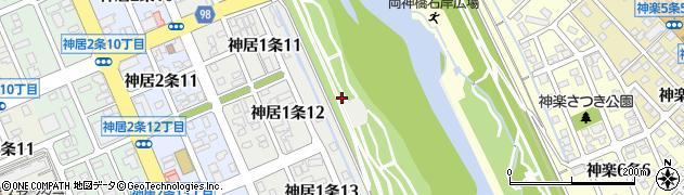 北海道旭川市神居1条周辺の地図