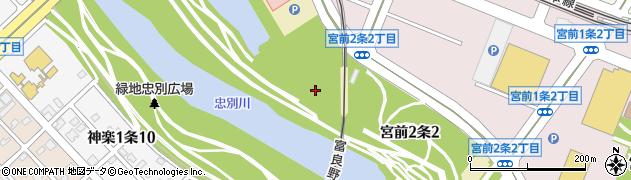 北海道旭川市宮前2条周辺の地図