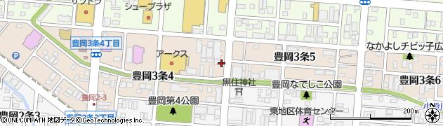 北海道旭川市豊岡3条周辺の地図