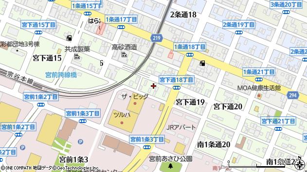 〒078-8330 北海道旭川市宮下通21丁目の地図