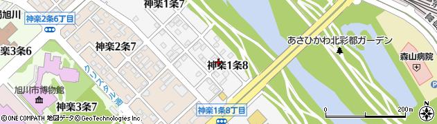 北海道旭川市神楽1条周辺の地図