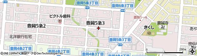 北海道旭川市豊岡5条周辺の地図