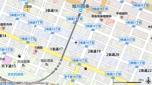 〒078-8212 北海道旭川市2条通21丁目の地図