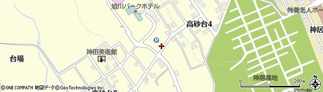 北海道旭川市高砂台周辺の地図