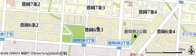 北海道旭川市豊岡6条3丁目周辺の地図