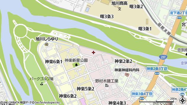 〒070-8004 北海道旭川市神楽4条の地図