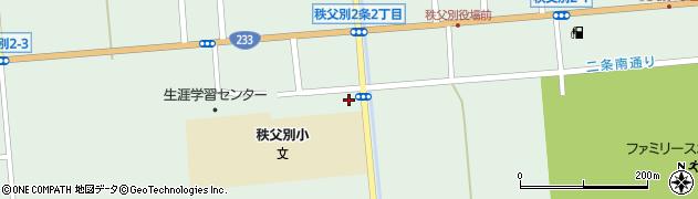 秩父別土地改良区周辺の地図