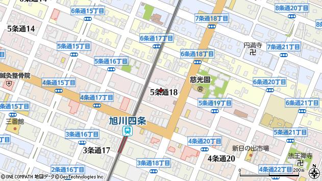 〒078-8215 北海道旭川市5条通22丁目の地図