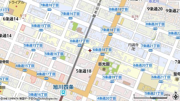 〒078-8216 北海道旭川市6条通25丁目の地図