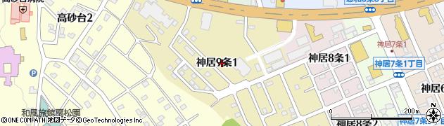 北海道旭川市神居9条周辺の地図