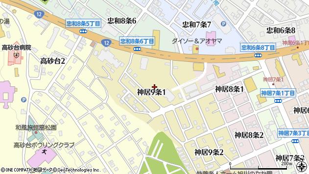 〒070-8019 北海道旭川市神居9条の地図