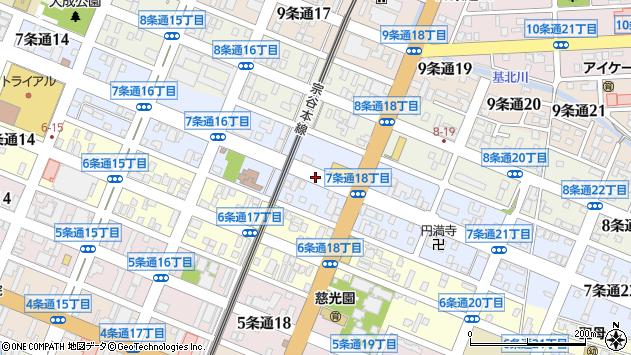 〒078-8217 北海道旭川市7条通18丁目の地図