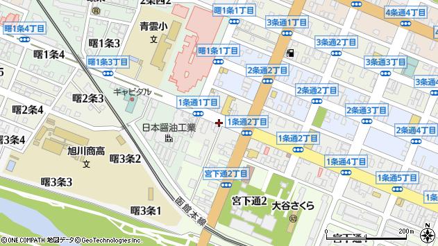 〒070-0031 北海道旭川市1条通6丁目の地図
