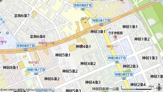 〒070-8014 北海道旭川市神居4条の地図
