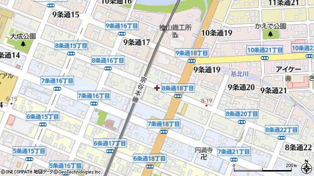 〒078-8218 北海道旭川市8条通25丁目の地図