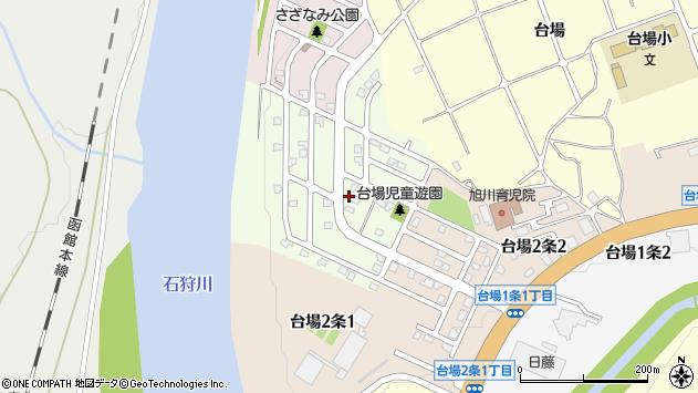 〒070-8073 北海道旭川市台場3条の地図