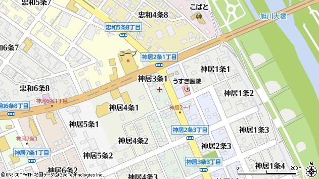 〒070-8013 北海道旭川市神居3条の地図