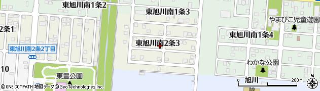 北海道旭川市東旭川南2条周辺の地図
