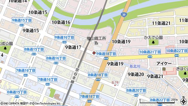 〒078-8219 北海道旭川市9条通19丁目の地図