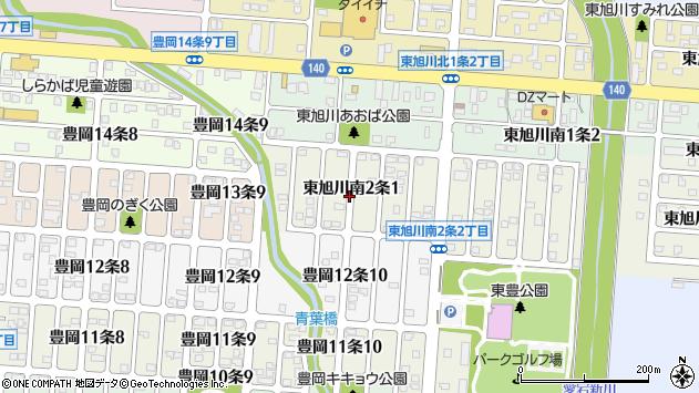 〒078-8262 北海道旭川市東旭川南2条の地図