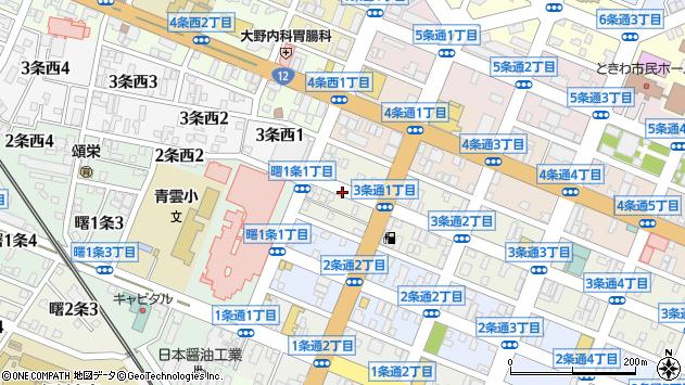 〒070-0033 北海道旭川市3条通9丁目の地図