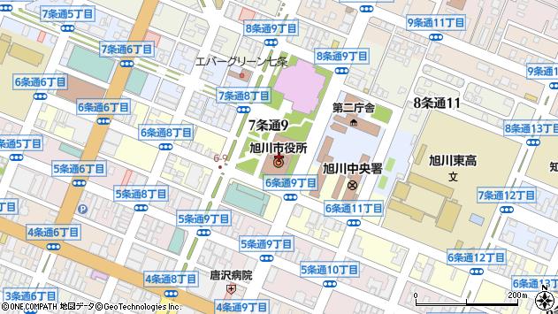 〒070-0973 北海道旭川市4区3条の地図