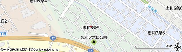 北海道旭川市忠和8条周辺の地図