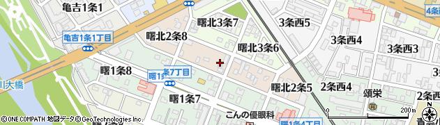 北海道旭川市曙北2条周辺の地図