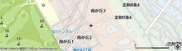 北海道旭川市南が丘周辺の地図