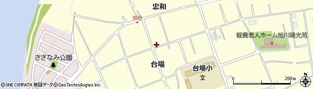 北海道旭川市神居町(台場)周辺の地図