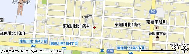 北海道旭川市東旭川北1条周辺の地図