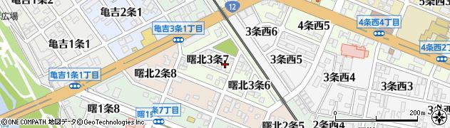 北海道旭川市曙北3条周辺の地図