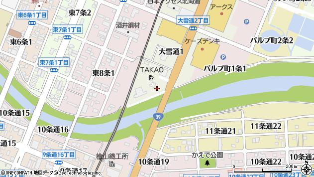 〒070-0010 北海道旭川市大雪通の地図